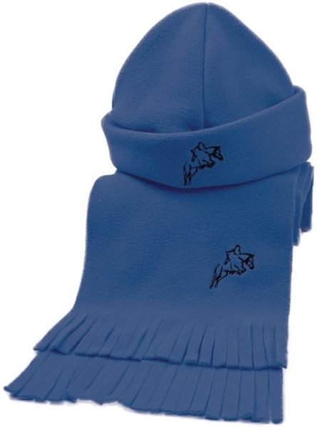 Hy Fleece Hat & Scarf Set Navy