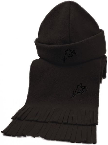 Hy Fleece Hat & Scarf Set Black