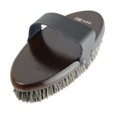 HySHINE Deluxe Body Brush With Horse Hair Mixed With Pig Bristles