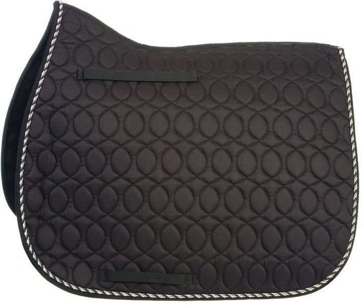HySpeed Deluxe Saddle Pad with Cord - Pony Black