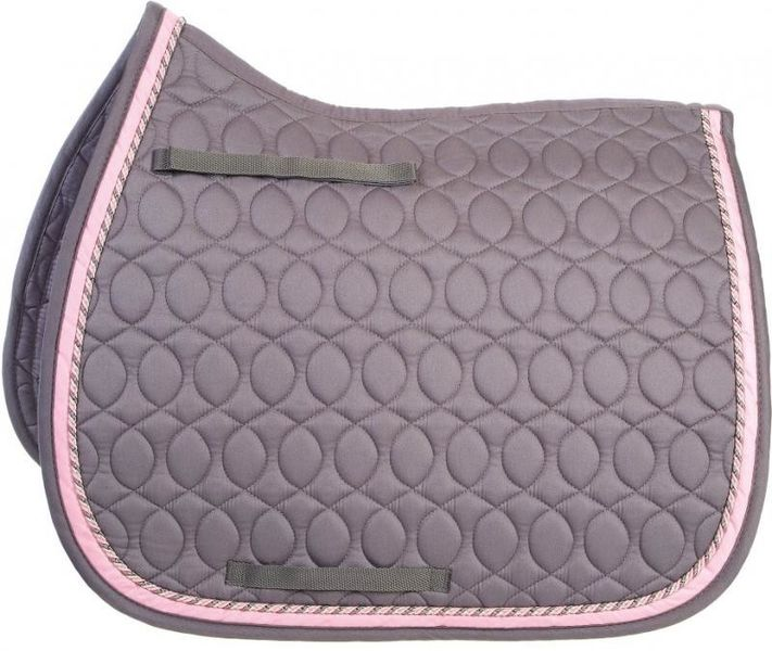HySpeed Deluxe Saddle Pad with Cord - Pony Grey