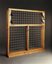 Hopper Stable Window with Perspex & Beading