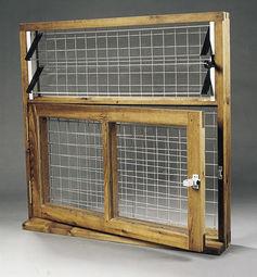 Combi Hopper Window with Perspex & Beading