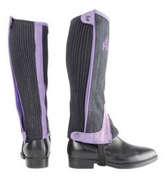 Hy Two Tone Amara Child Half Chaps in Black/Purple