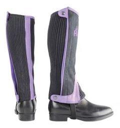Hy Two Tone Amara Child Half Chaps in Black/Purple
