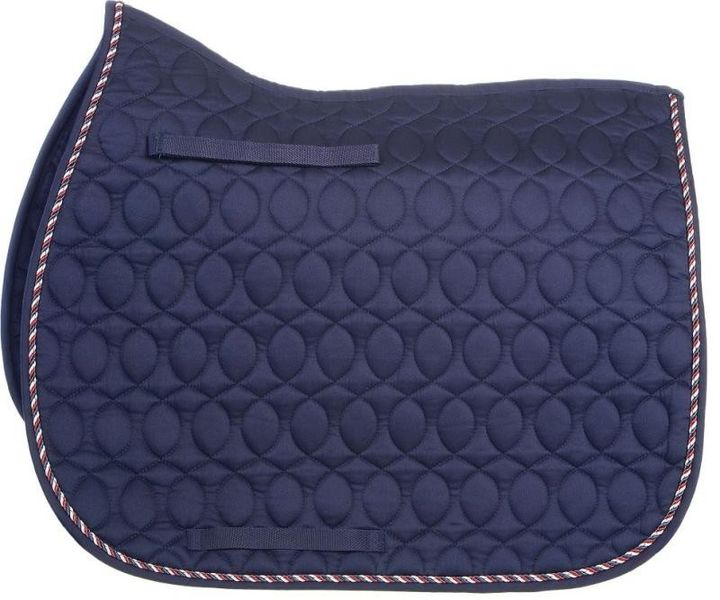HySpeed Deluxe Saddle Pad with Cord - Cob/Full Navy/Red