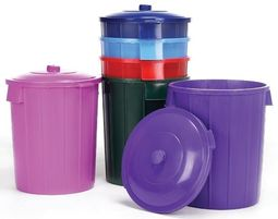 Dustbin and Lid - Multiple Colours