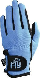 Hy5 Childrens Every Day Riding Gloves in Black/Sky Blue
