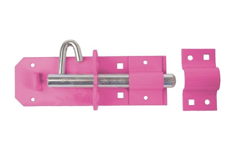 Brenton Padlock Bolt 150mm/ 6inch in Pink
