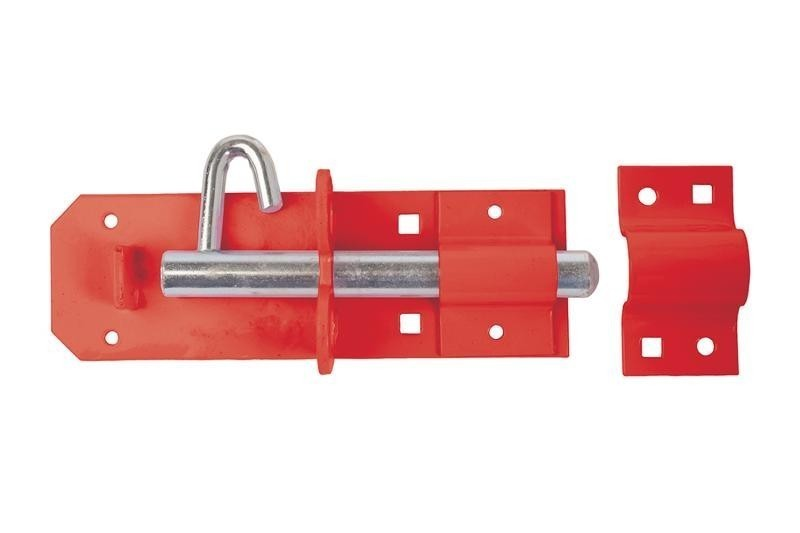 Brenton Padlock Bolt 150mm/ 6inch in Red