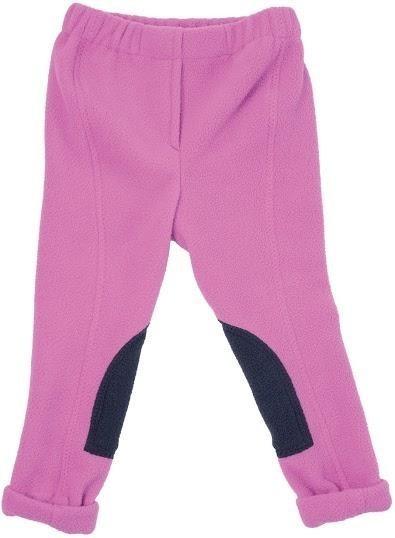 HyPerformance Fleece Tots Jodhpurs Pretty Pink/Navy - X Large