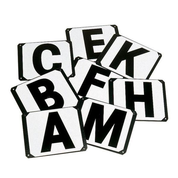 Dressage Letters Plate 8 Pk A-M