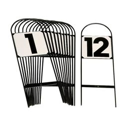 Pack of 15 Tread-In Show Jump Markers 1-15