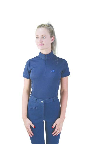 Hy Signature Sports Shirt navy/blue, M (12-14)