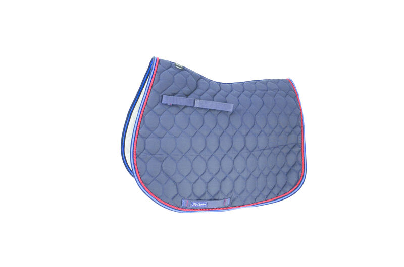 Hy Signature GP Saddle Pad, Navy/Blue/Red, Cob/Full