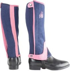 Hy Two Tone Amara Child Half Chaps in Navy/Raspberry