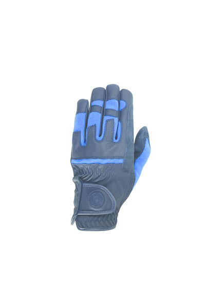 Hy Signature Riding Gloves, Navy/Blue, XS