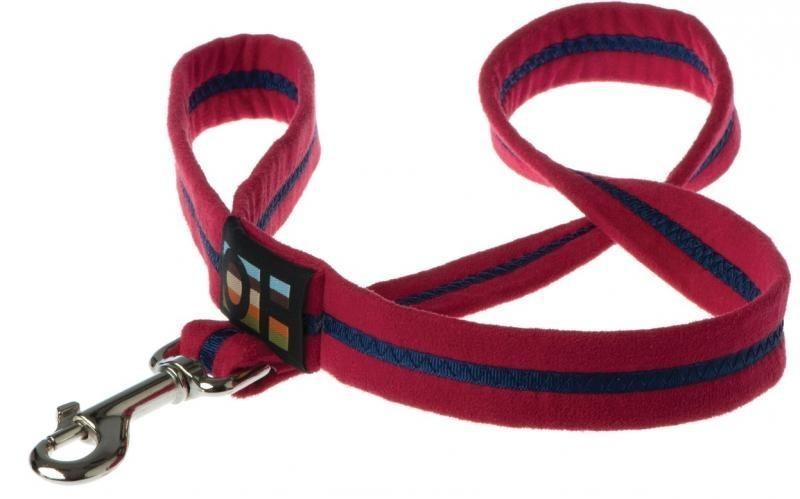 Oscar & Hooch Dog Lead 2 x 104cm - Bold Red