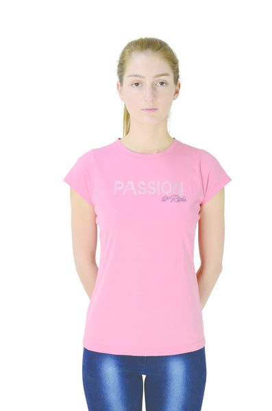 Hy FASHION Passion to Ride T-Shirt Coral, L (14-16)