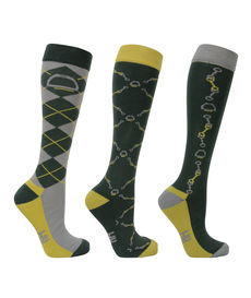 HyEQUESTRIAN Elegant Stirrup & Bit Boot Socks