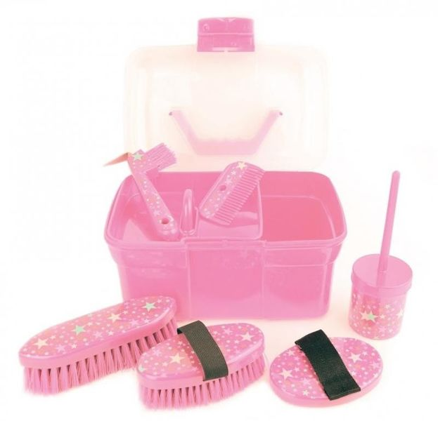 Lincoln Star Pattern Grooming Kit Pink