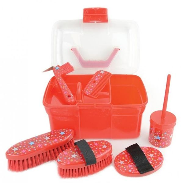 Lincoln Star Pattern Grooming Kit Red