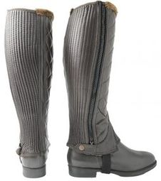Hy Winter Quilted Half Chaps Brown