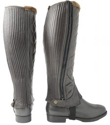 Hy Winter Quilted Half Chaps Brown Medium