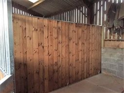 12Ft Fully Boarded End Panel
