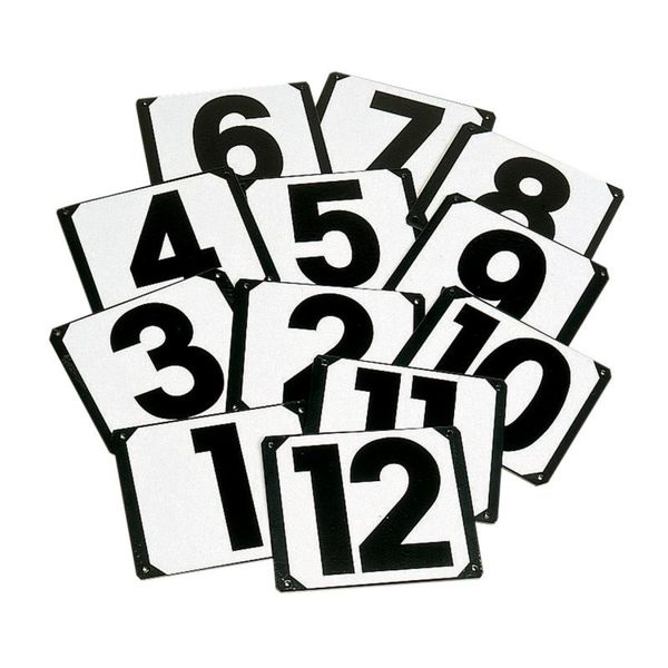 Pack of 15 Steel Plate Show Jump Markers 1-15