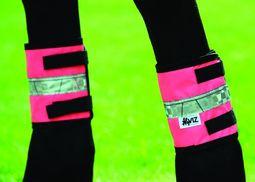 Pink Cob/Horse HyVIZ Leg Bands