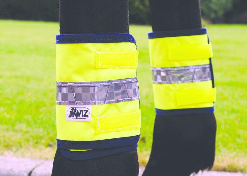Yellow Cob/Horse HyVIZ Leg Bands