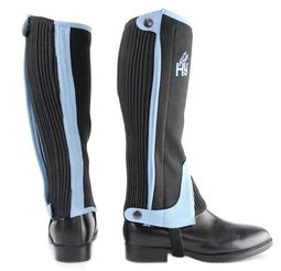 Hy Two Tone Amara Child Half Chaps in Black/Sky Blue