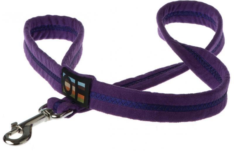 Oscar & Hooch Dog Lead 2 x 104cm - Liberty Purple