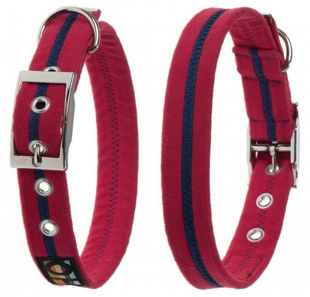 Oscar & Hooch Dog Collar 2.5 x 51cm - Bold Red