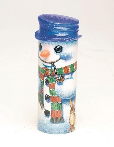 Lincoln Snowman Treats - Blue Hat
