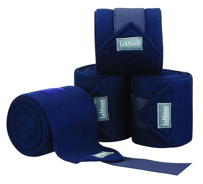 LeMieux Luxury Fleece Bandages Navy
