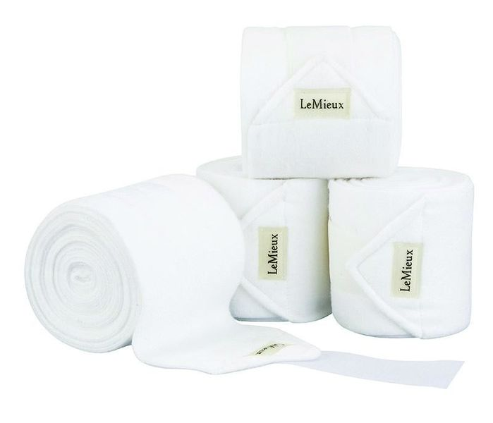 LeMieux Luxury Fleece Bandages White
