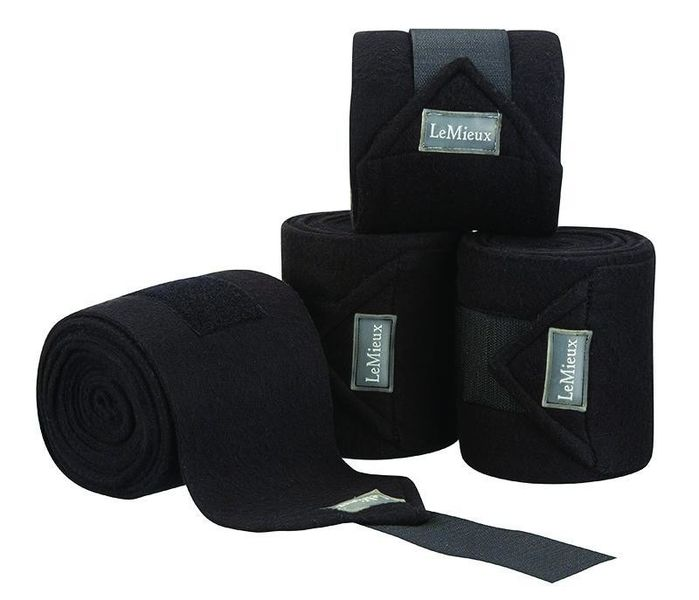 LeMieux Luxury Fleece Bandages Black