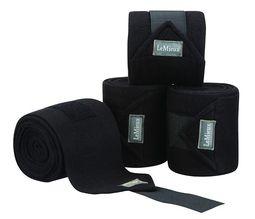 LeMieux Luxury Fleece Bandages Black