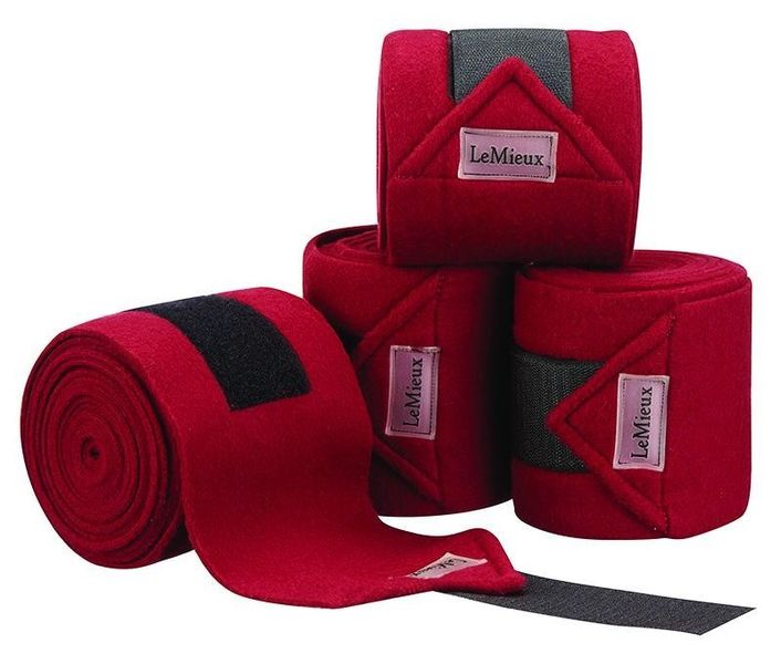 LeMieux Luxury Fleece Bandages Burgundy