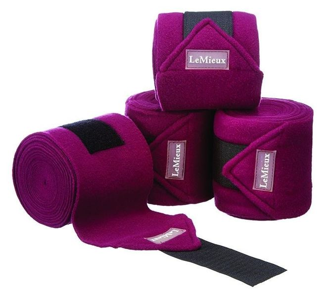 LeMieux Luxury Fleece Bandages Autumn Plum