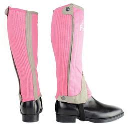 Hy Two Tone Amara Child Half Chaps in Pink/Grey