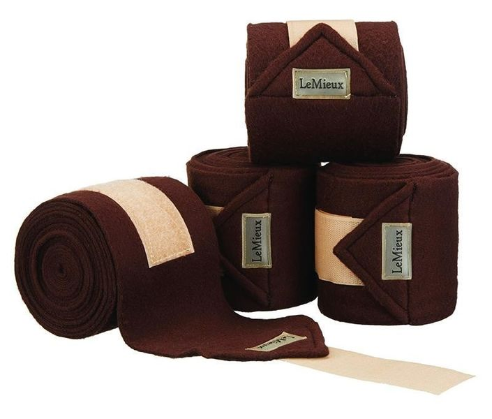 LeMieux Luxury Fleece Bandages Brown