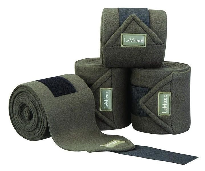 LeMieux Luxury Fleece Bandages Grey