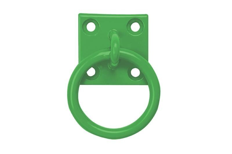 Tie Ring on Plate in Green