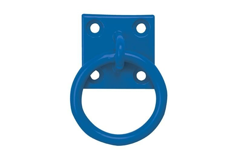 Tie Ring on Plate in Blue