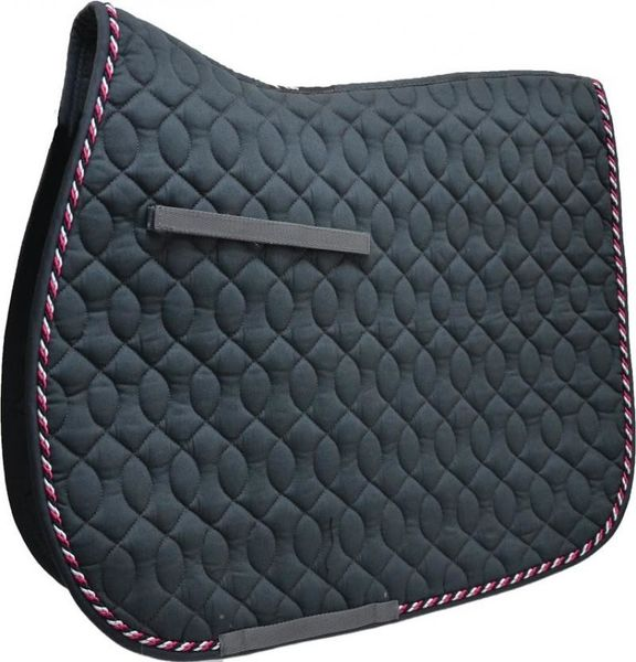HySpeed Deluxe Saddle Pad with Cord - Cob/Full Grey/Black