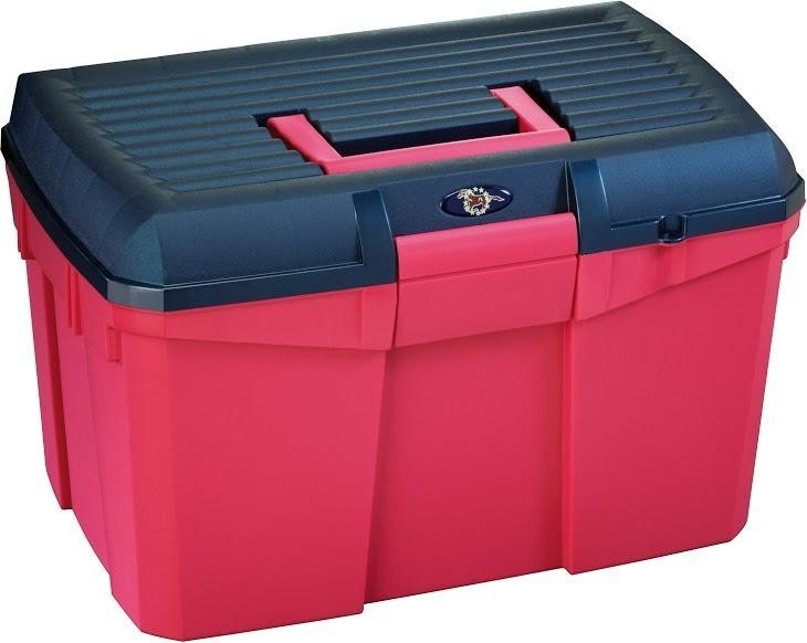 Tack Box - Medium - Raspberry/Navy