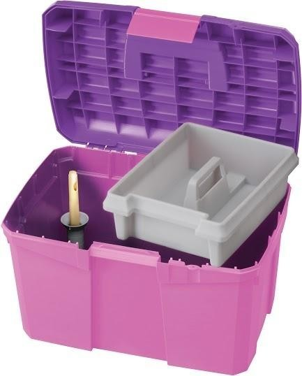 Tack Box - Medium - Candy Pink/Purple